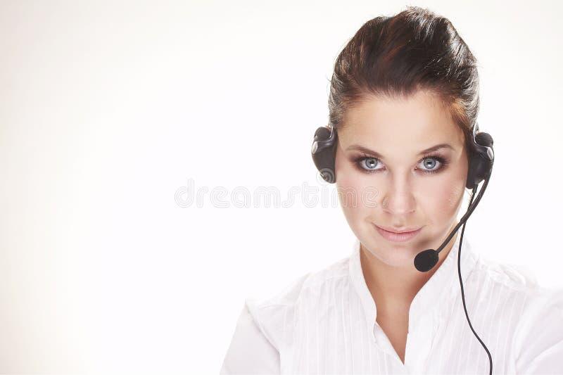 Hotline operator stock photo