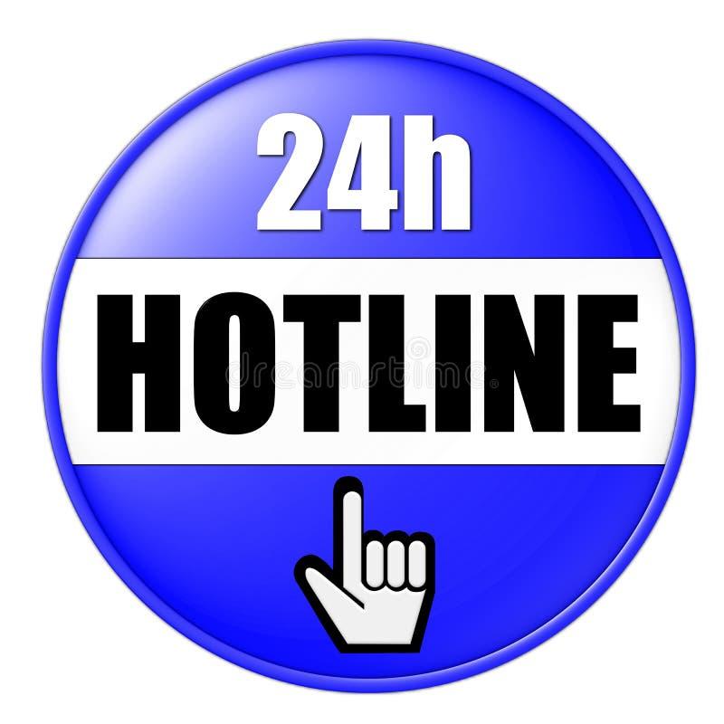 Hotlines-Zahl-Taste vektor abbildung