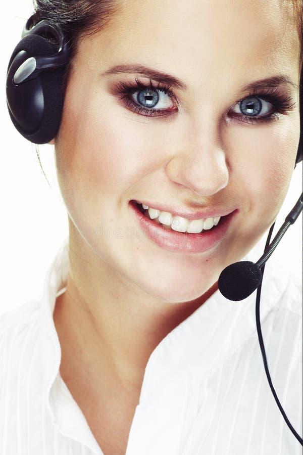 Hotlinesbediener stockbild