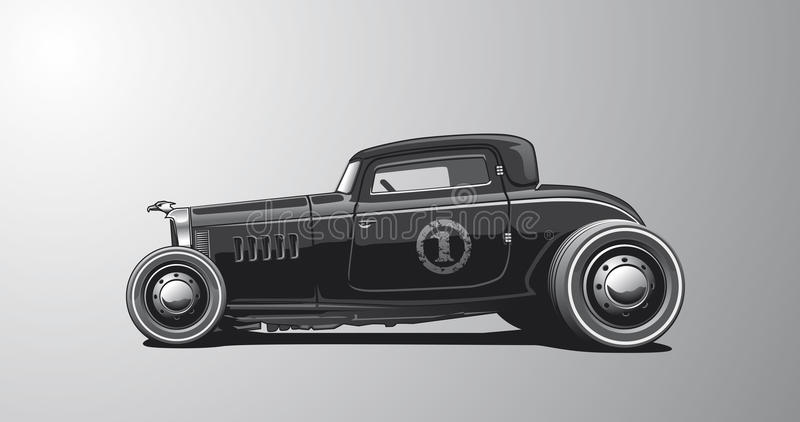 Hotrod, Illustratie stock illustratie