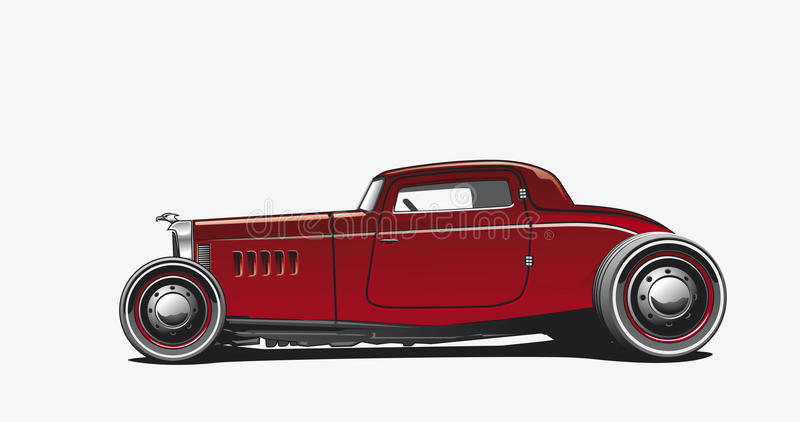 Hotrod, Illustration vector illustration