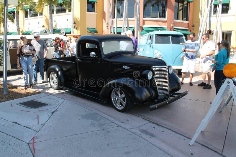 Hotrod noir photo stock