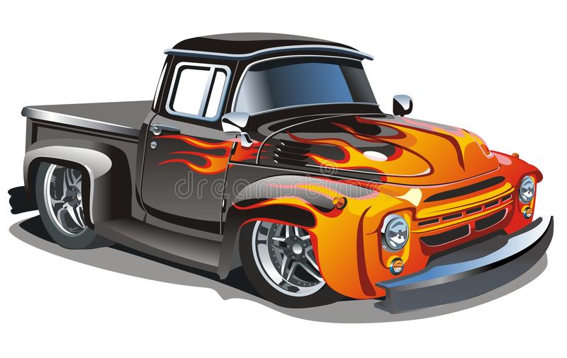 Hotrod retro del vector libre illustration