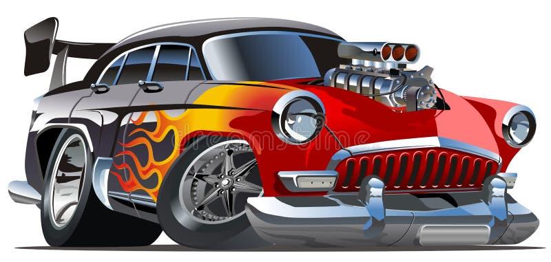 Hotrod Volga-21 dos desenhos animados do vetor ilustração stock
