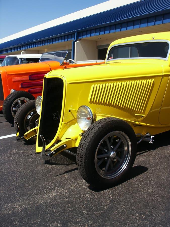 Hotrods em uma mostra de carro imagem de stock