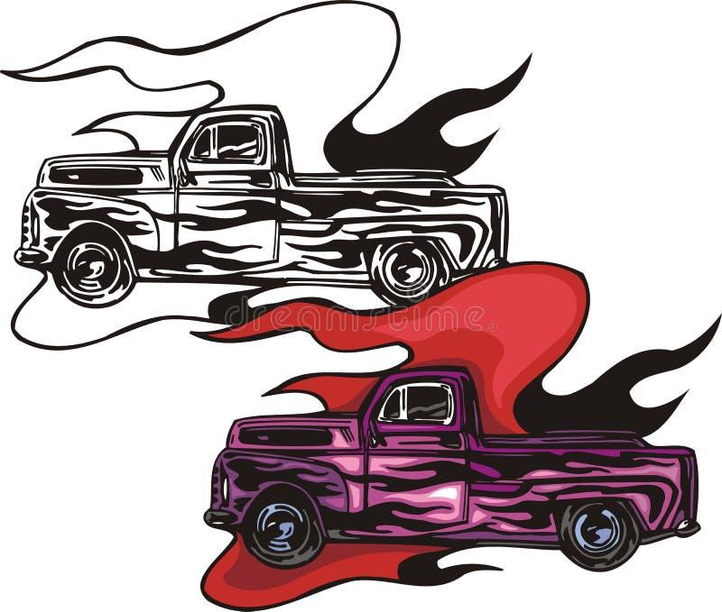 Hotrods llameantes. stock de ilustración