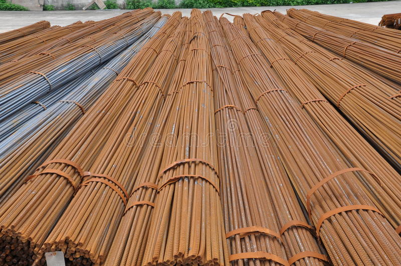 Download Hotrolled deformed bar stock image. Image of q235b, timbering - 24515277