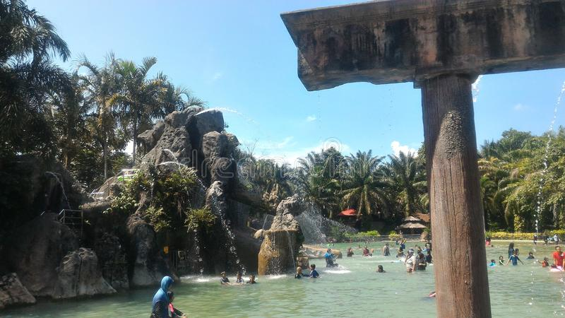 Hotspring de Sungai Klah, Malásia fotos de stock