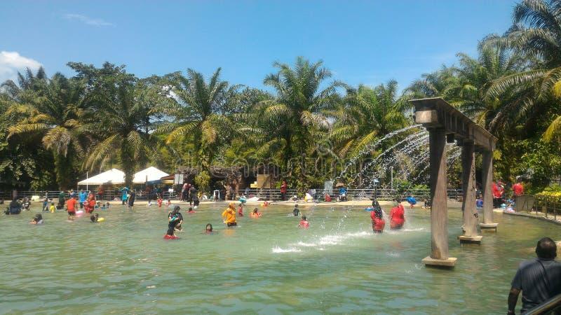 Hotspring de Sungai Klah, Malásia fotografia de stock