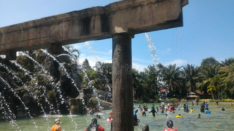 Hotspring de Sungai Klah, Malásia fotografia de stock royalty free