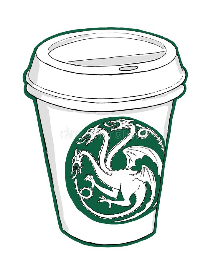 The hottest coffee in whole Westeros royalty free stock photo