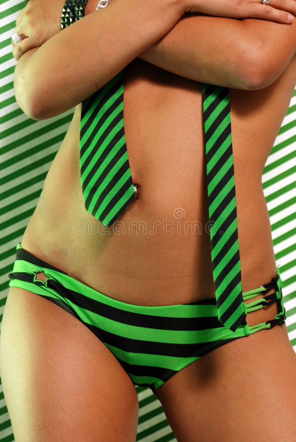Hottie with stripes royalty free stock photo