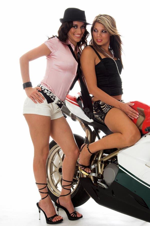 hotties μοτοσικλέτα στοκ εικόνα
