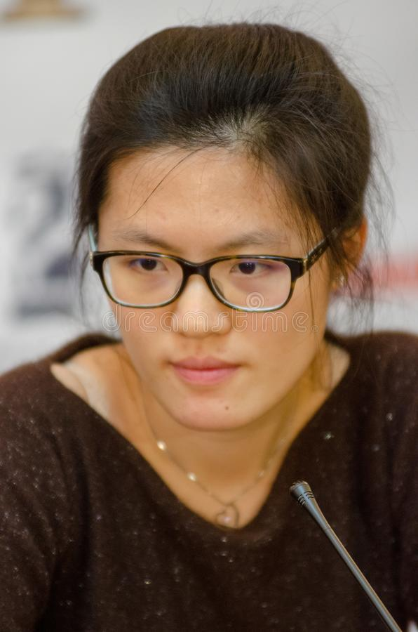 Hou Yifan is a Chinese chess grandmaster stock photos