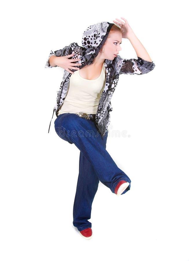 Houblon attrayant de gratte-cul de danse de fille photo libre de droits