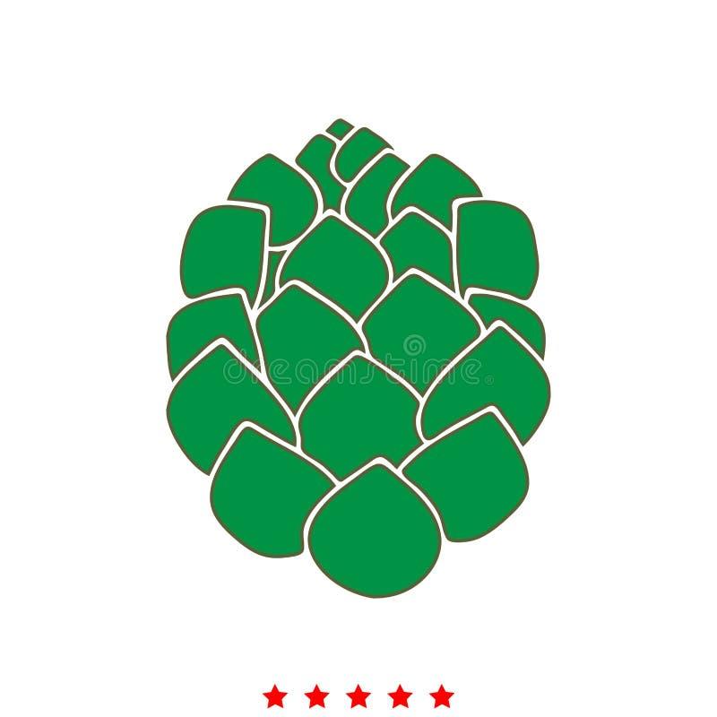Houblon c'est icône illustration de vecteur