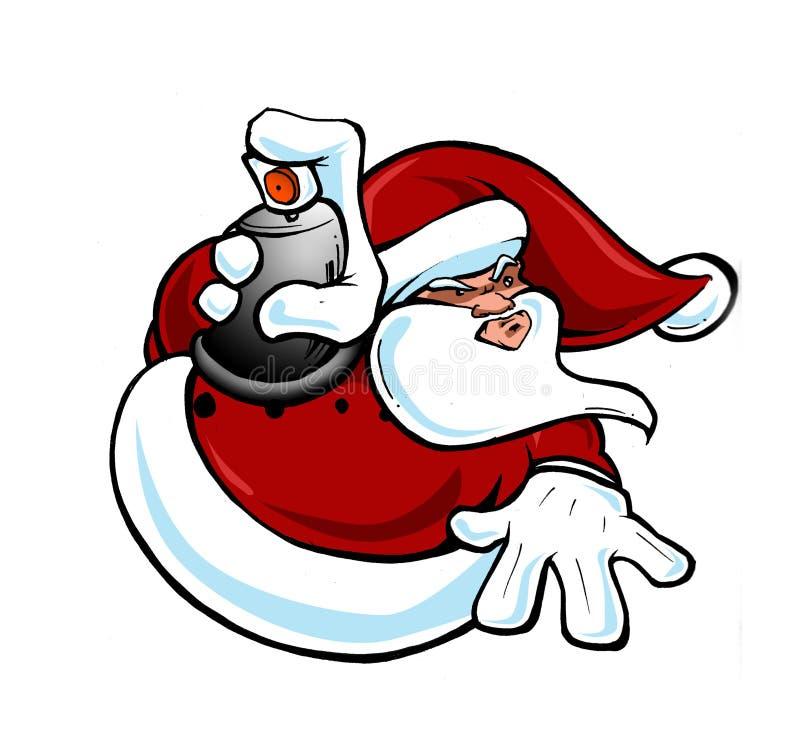 houblon Santa de gratte-cul illustration de vecteur