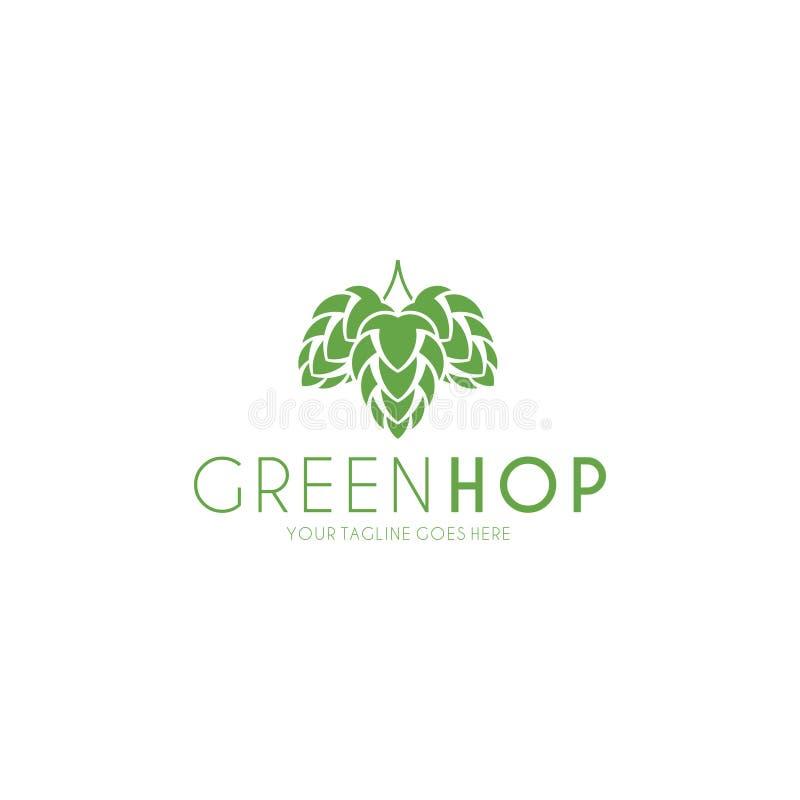 Houblon vert logo illustration libre de droits