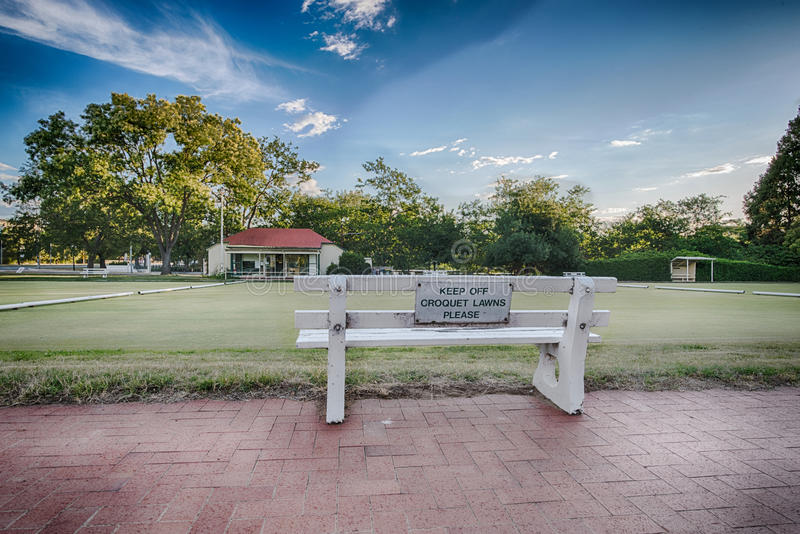 Houd croquetgazons, Canberra, Australië op een afstand royalty-vrije stock foto