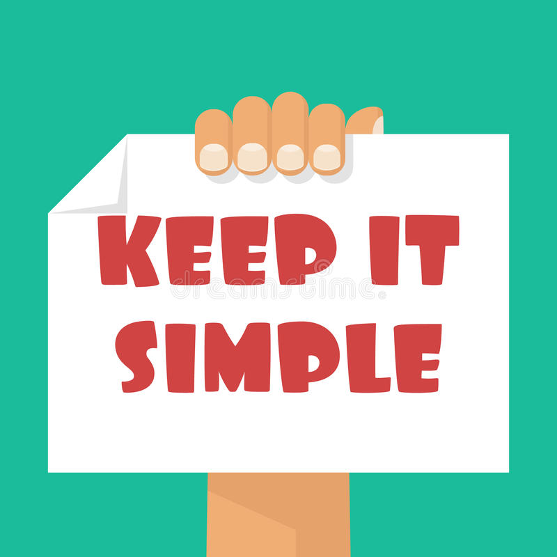 Houd het Eenvoudig royalty-vrije illustratie