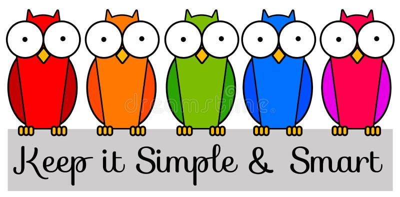 Houd het eenvoudig en slim vector illustratie