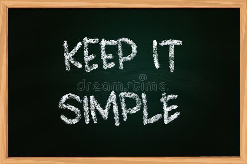 Houd het Eenvoudig Krijt schrijvend op Bord stock illustratie