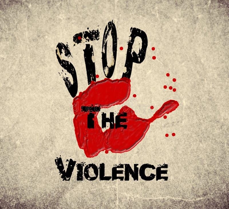 Houd het geweld tegen stock illustratie