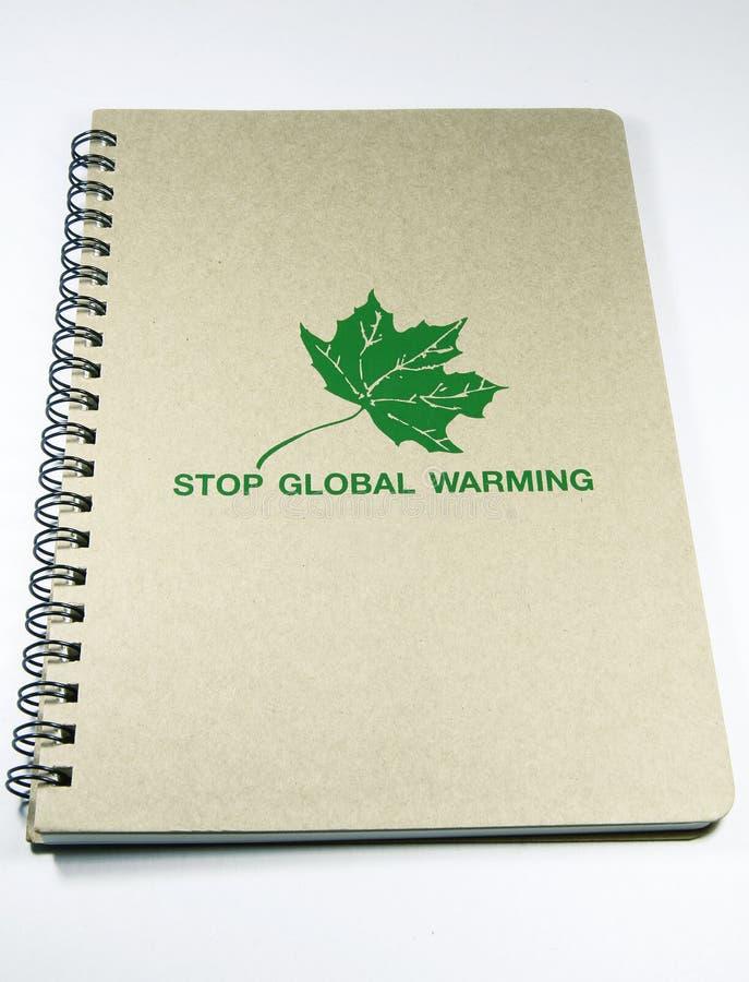 Recycleer notitieboekje royalty-vrije stock afbeeldingen