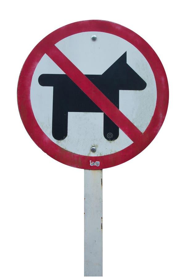 Houd hondteken weg royalty-vrije stock afbeeldingen