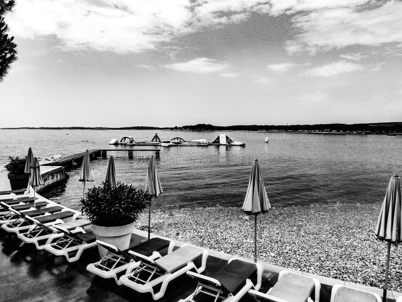 Houd kalm en ga naar strand royalty-vrije stock fotografie