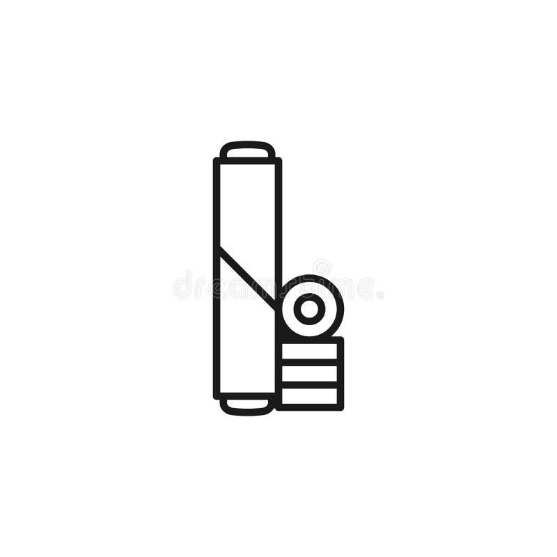 Houd met op rokend, scherp pictogram Element van opgehouden met rokend pictogram Dun lijnpictogram voor websiteontwerp en ontwikk vector illustratie