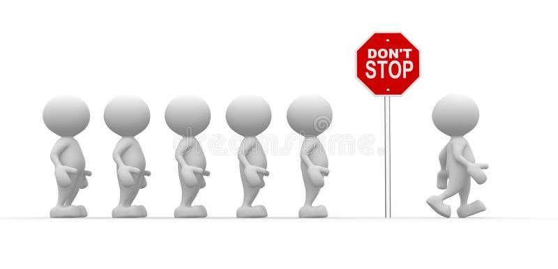 Houd niet op vector illustratie