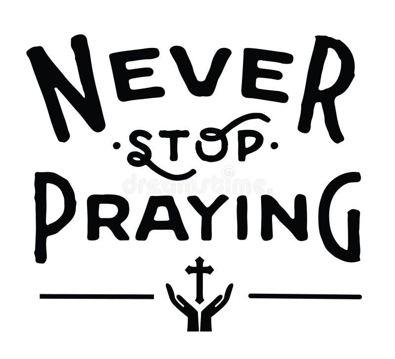 Houd nooit op biddend stock illustratie