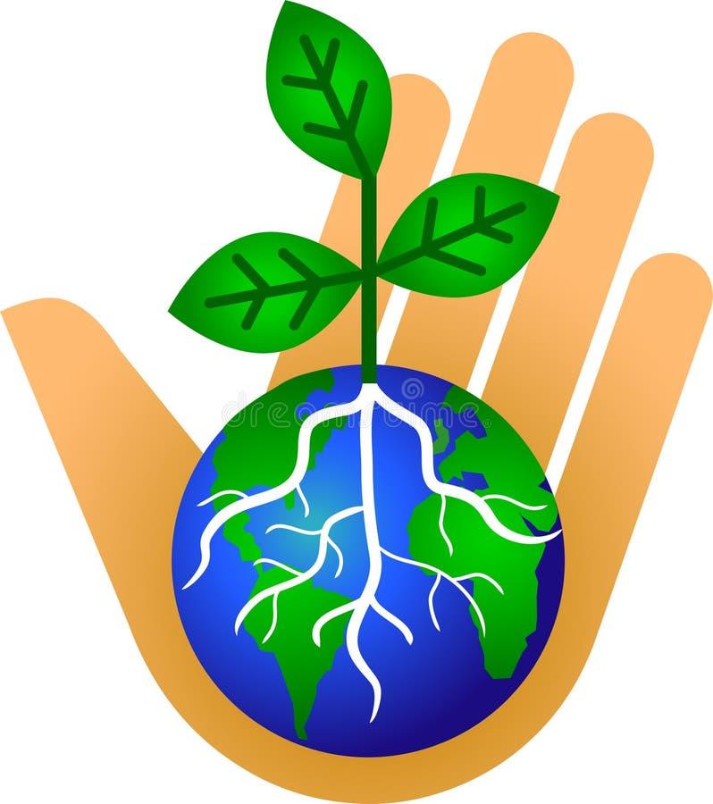 Houd Onze Aarde/eps Groen stock illustratie