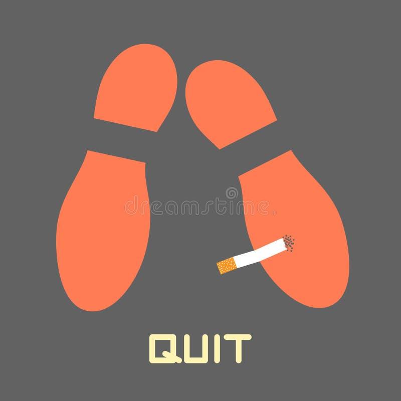 Houd op Smoking vector illustratie