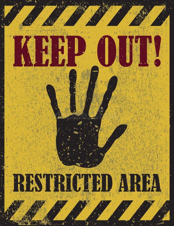 Houd teken, het waarschuwen weg vector illustratie