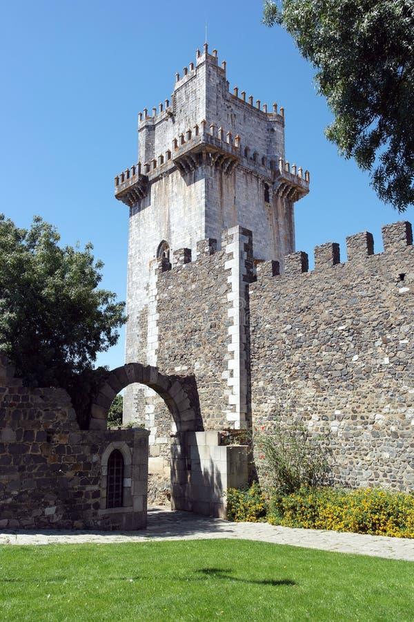 Houd toren, Beja, Portugal stock foto's