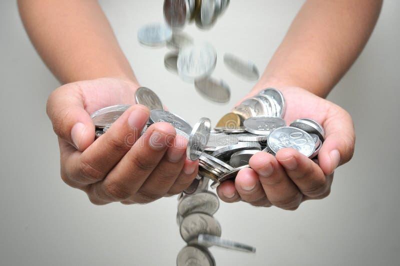 Houd uw geld stock afbeelding