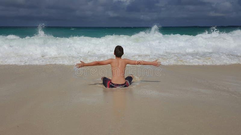 Houd van het strand royalty-vrije stock foto's