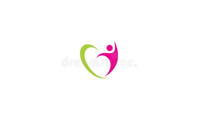 Houd van het vectorpictogram van het gezondheidsembleem stock illustratie