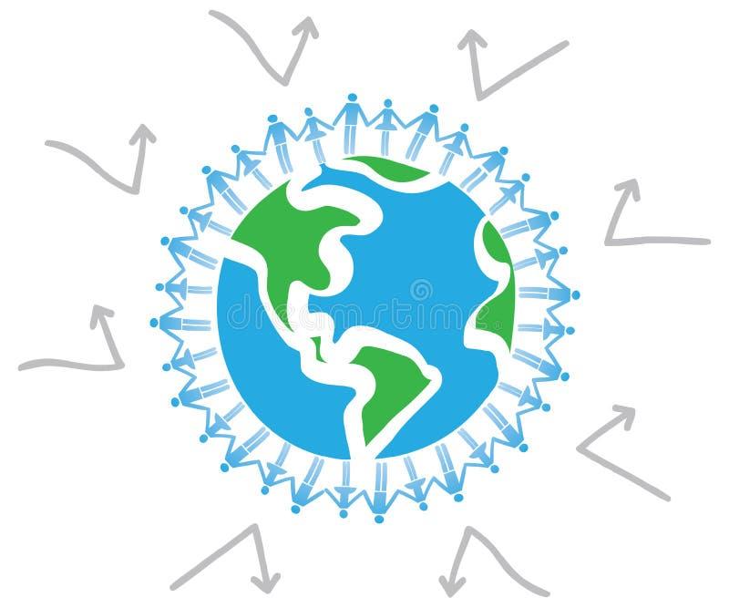 Houd van onze aarde is beschermd royalty-vrije illustratie