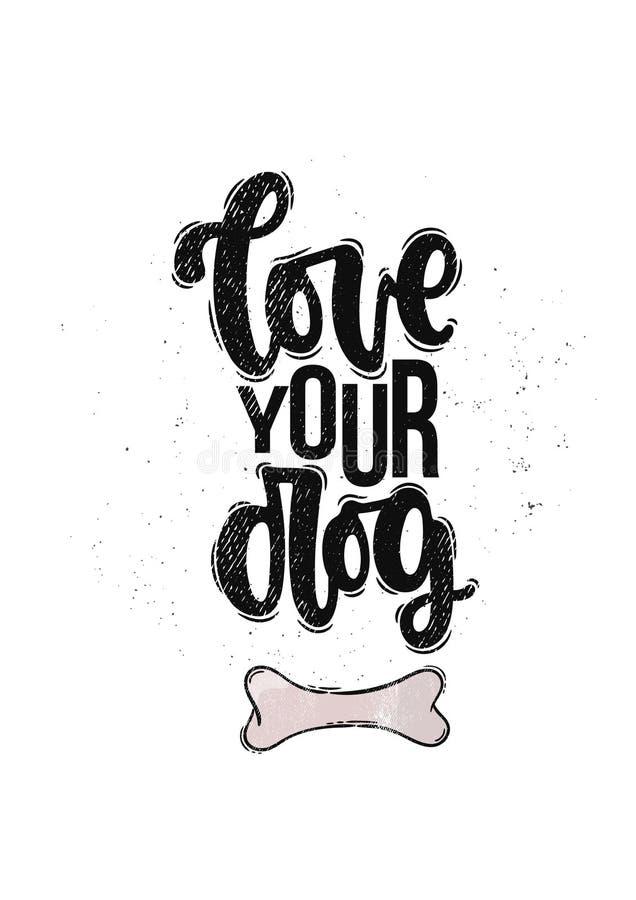 Houd van uw hond royalty-vrije illustratie