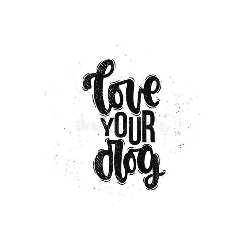 Houd van uw hond vector illustratie