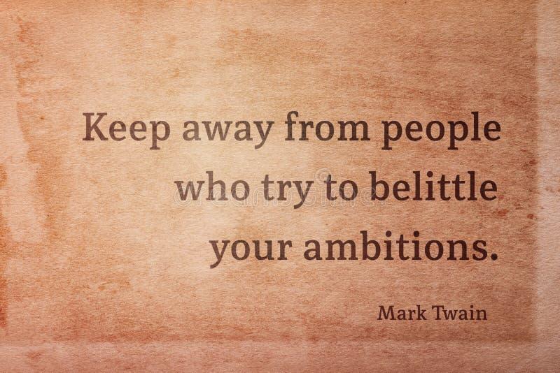 Houd weg Twain stock afbeelding