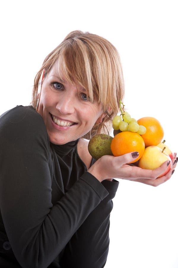 Houdend van fruit stock foto