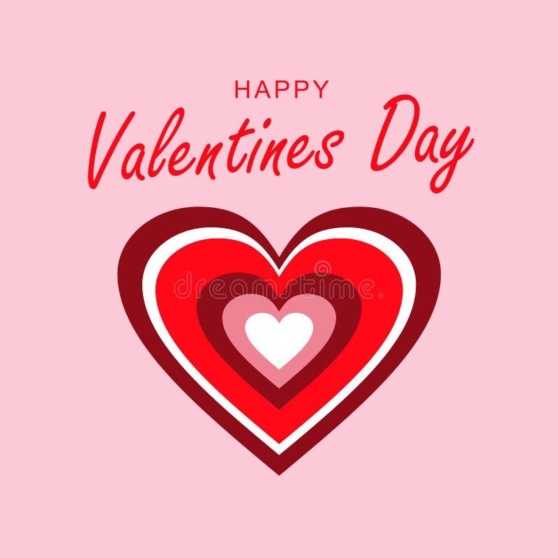 Houdend van hart Het hart van de regenboog Dag van prentbriefkaar de Gelukkige Valentine ` s royalty-vrije illustratie