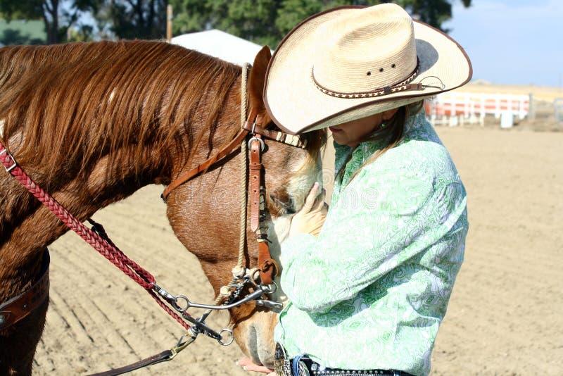 Houdend van Paard stock foto