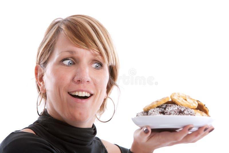 Houdende van koekjes royalty-vrije stock afbeelding