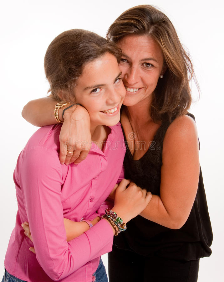 Houdende van moeder en dochter royalty-vrije stock foto