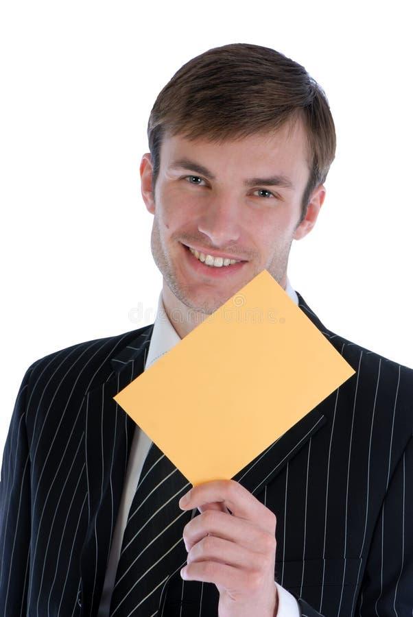 Houdt in hand enveloppe royalty-vrije stock foto's